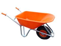 Wheelbarrow Geared Towards Road Workers and Horticulturists.